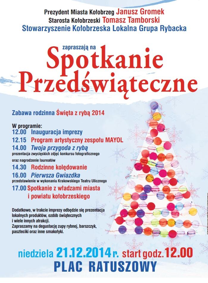 Zaproszenie Na Spotkanie Przedświąteczne Powiat Kołobrzeski W